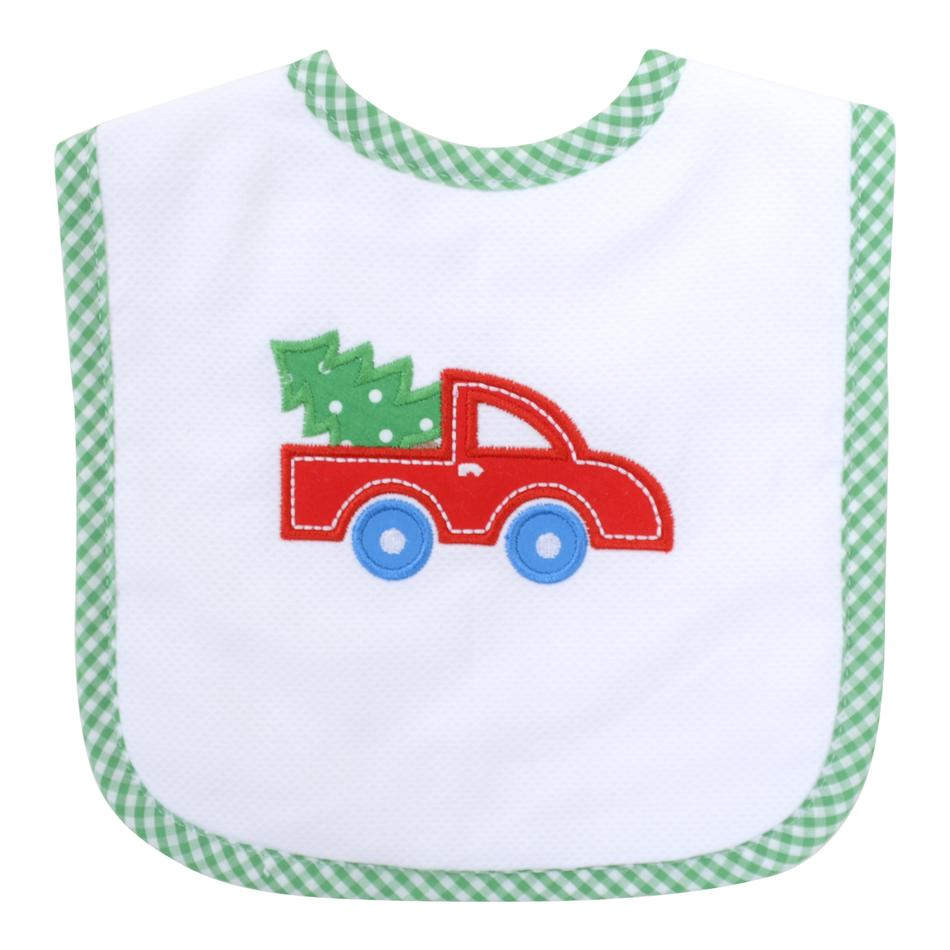 Feeding Bib - Red Christmas Truck