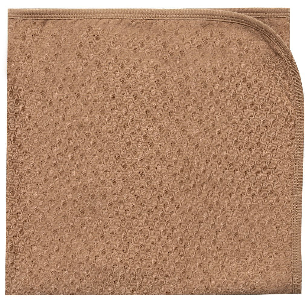 Pointelle Baby Blanket - Copper