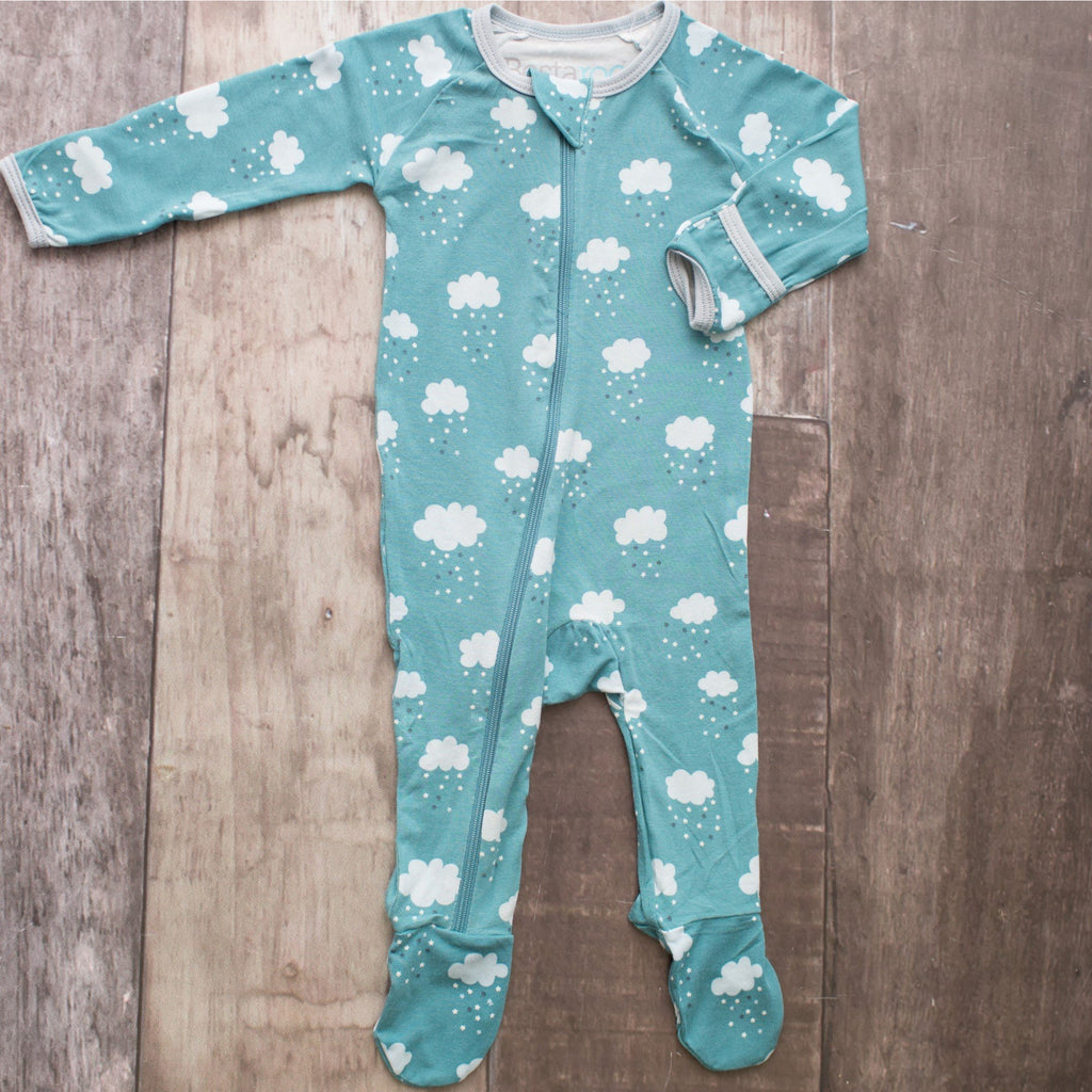 Footie Pajamas - Blue Cloud