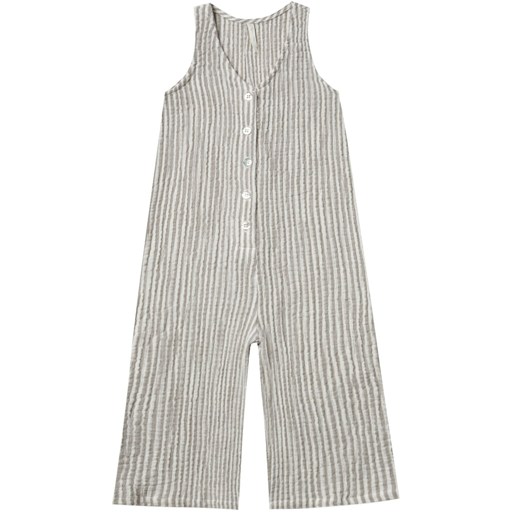 Bridgette Jumpsuit - Olive Stripe