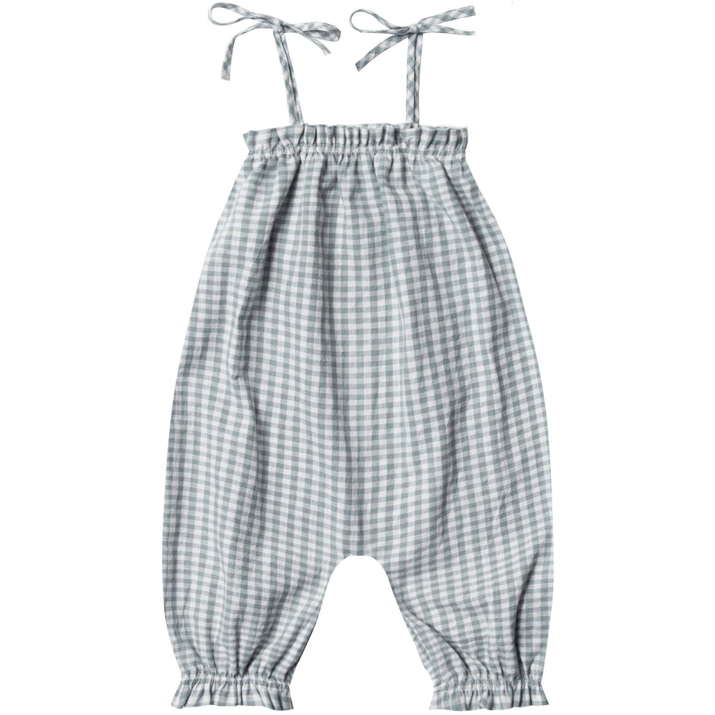 Bubble Jumpsuit - Sea Gingham