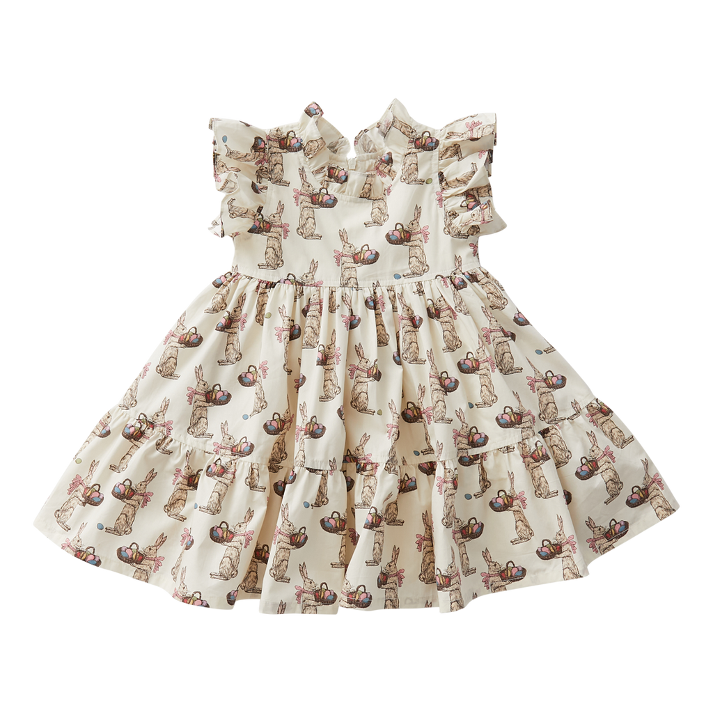 Jennifer Dress - Antique White Rabbits