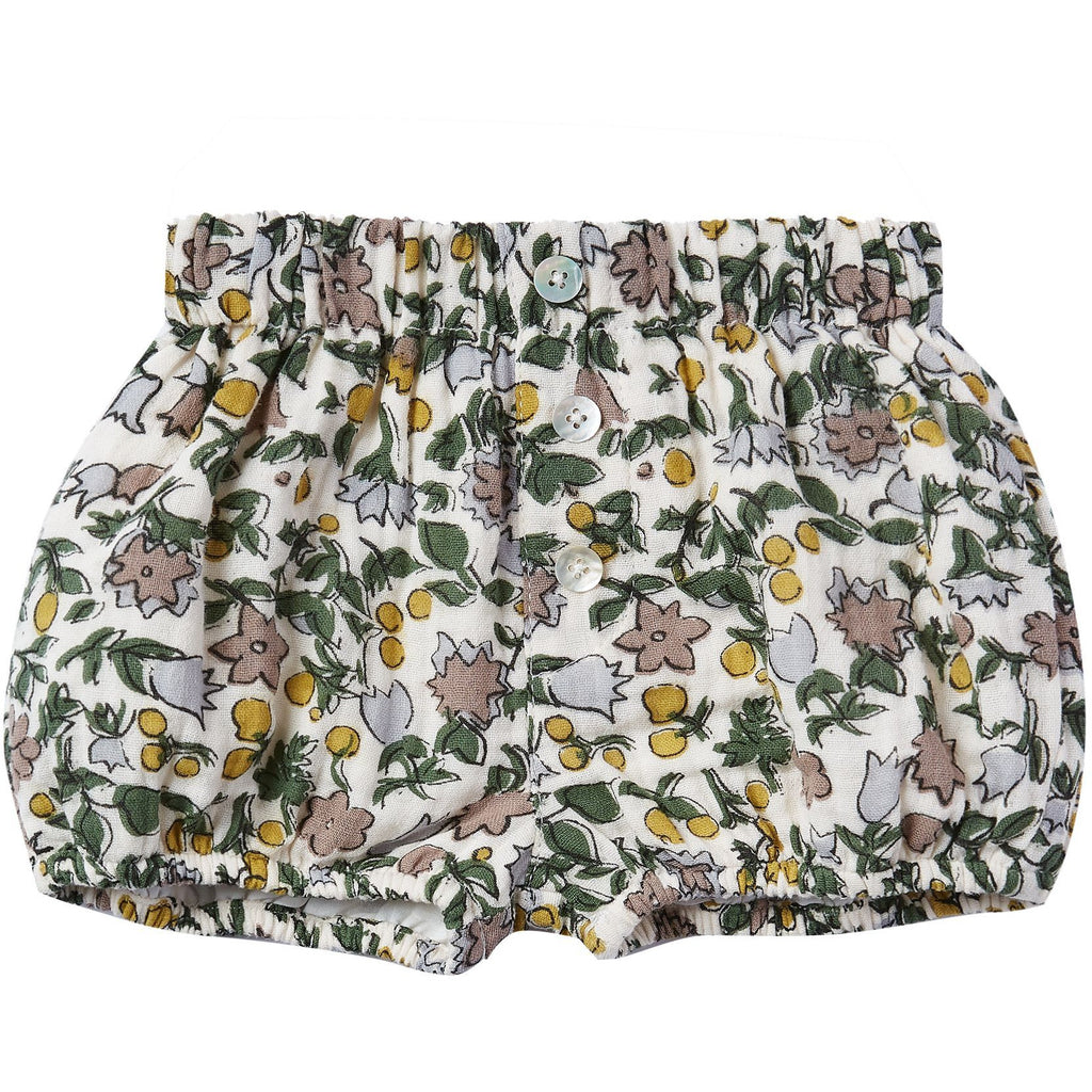 Button Shorts - Enchanted Garden