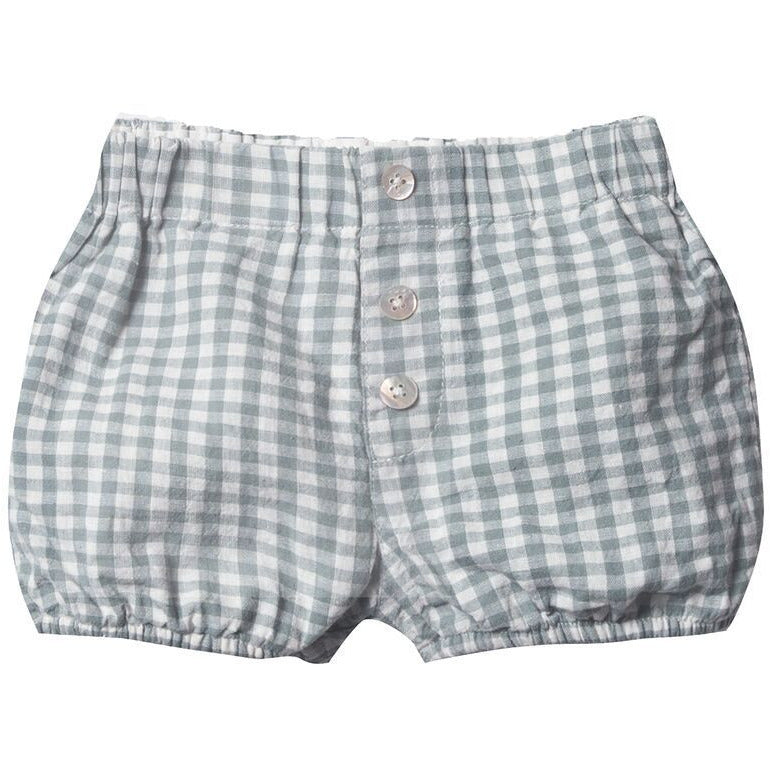 Button Short - Sea Gingham