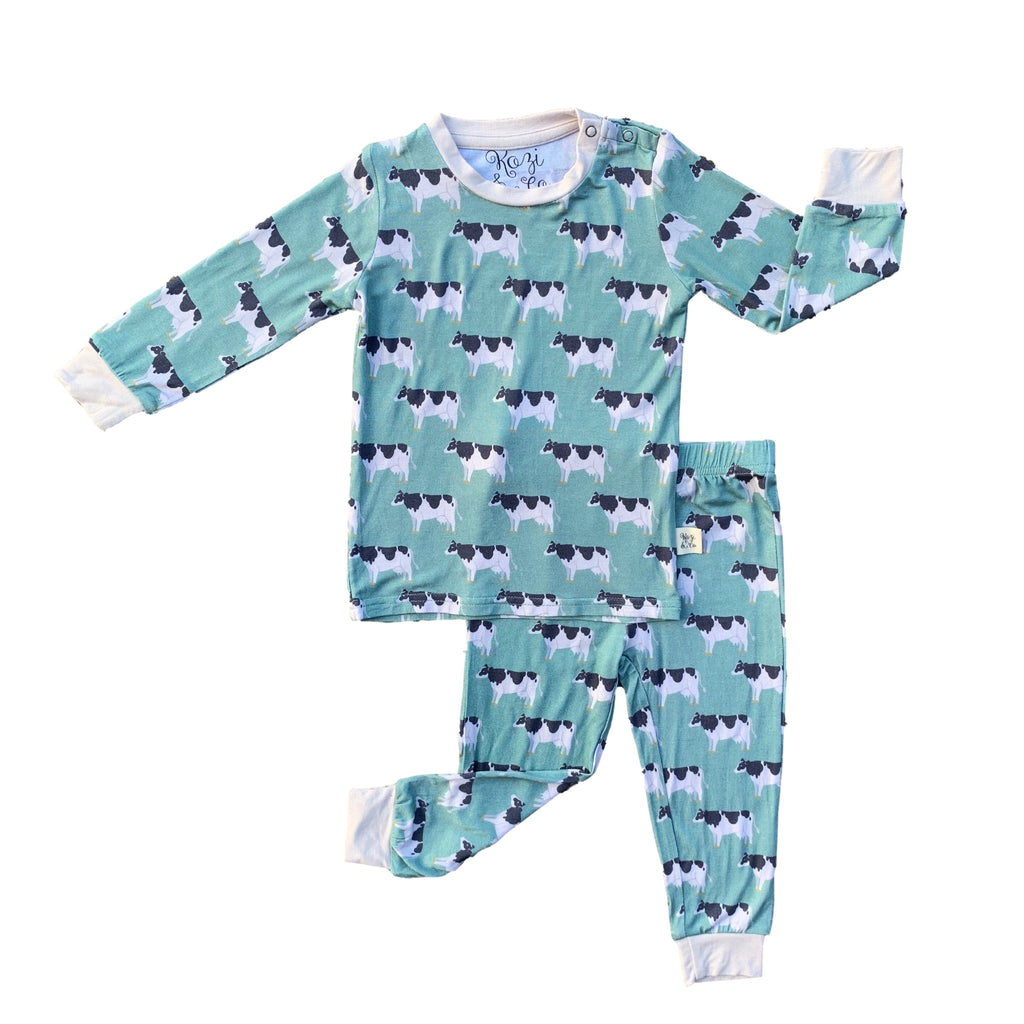 Kozi pajama set with cows