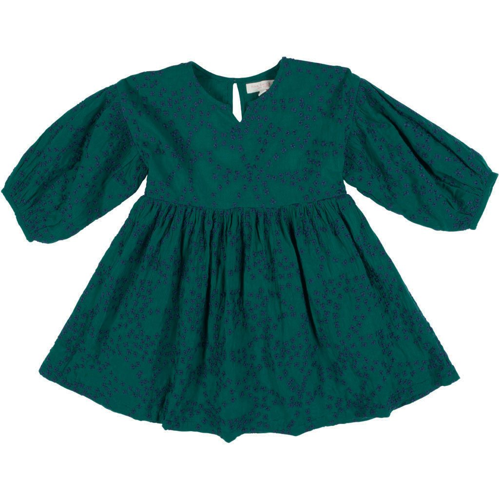 Celeste Dress - Evergreen/Navy