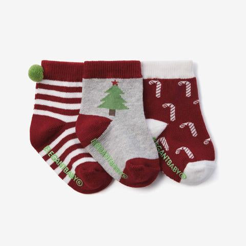 Socks (3/pk) - Christmas