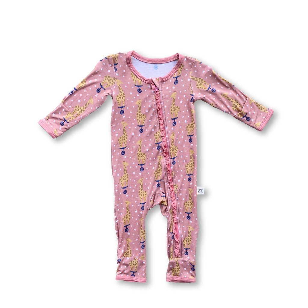 Coveralls - Cotton Candy Giraffe Ruffle