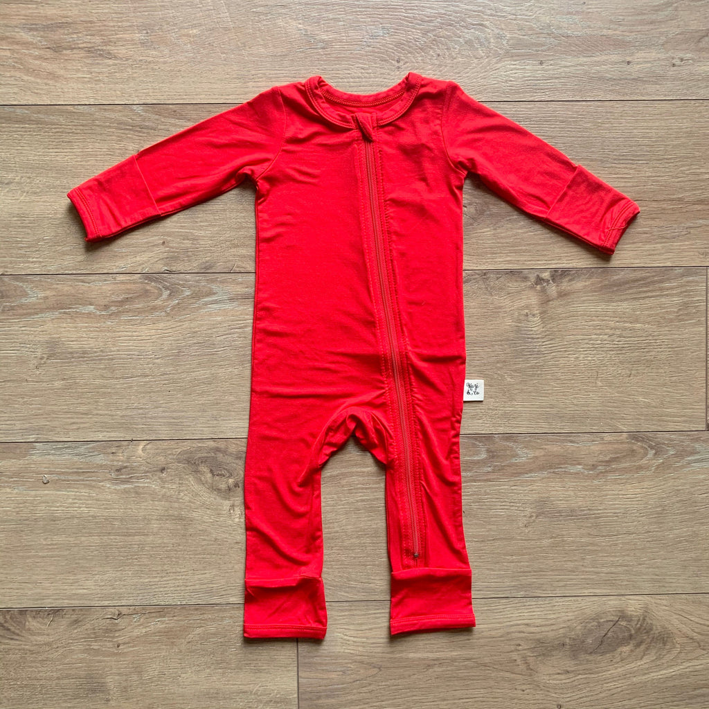 Coveralls - Holly Red Solid