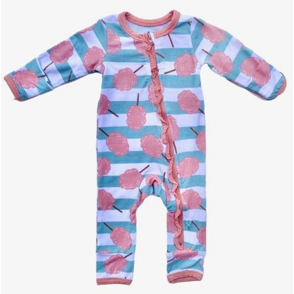 Coveralls - Cotton Candy Stripe Ruffle