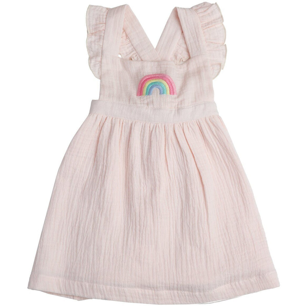 Pinafore Top & Diaper Cover - Rainbow
