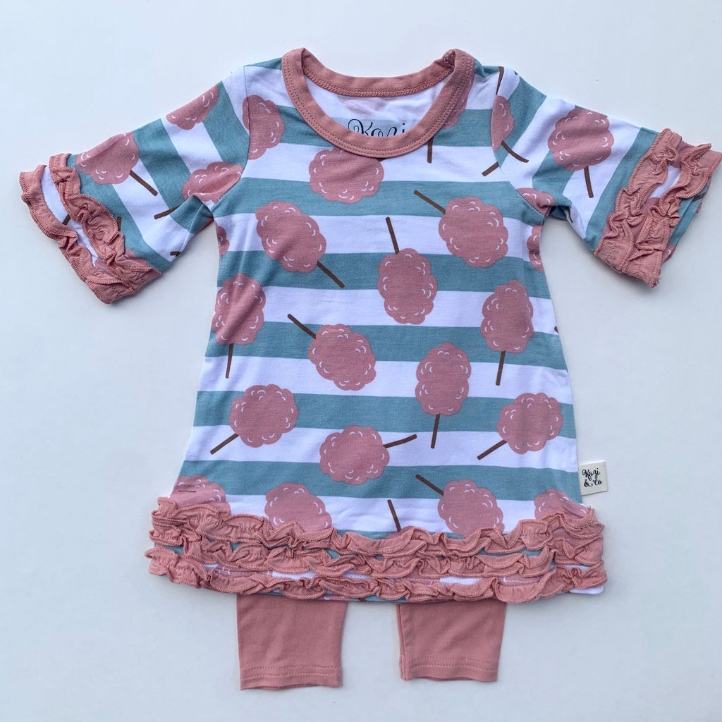 Dress Set - Cotton Candy Stripe