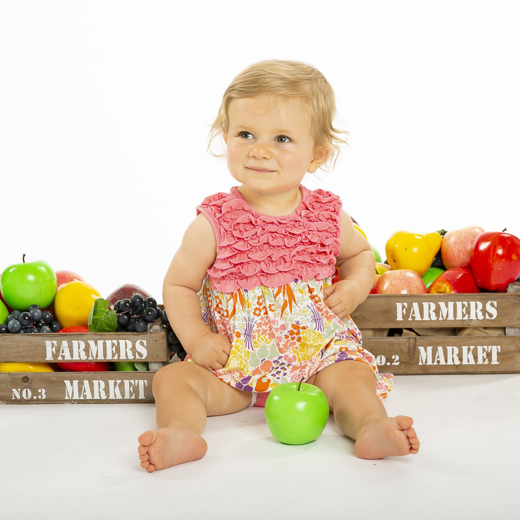 Modal Magnetic Dress + Diaper Cover - Farmers Market