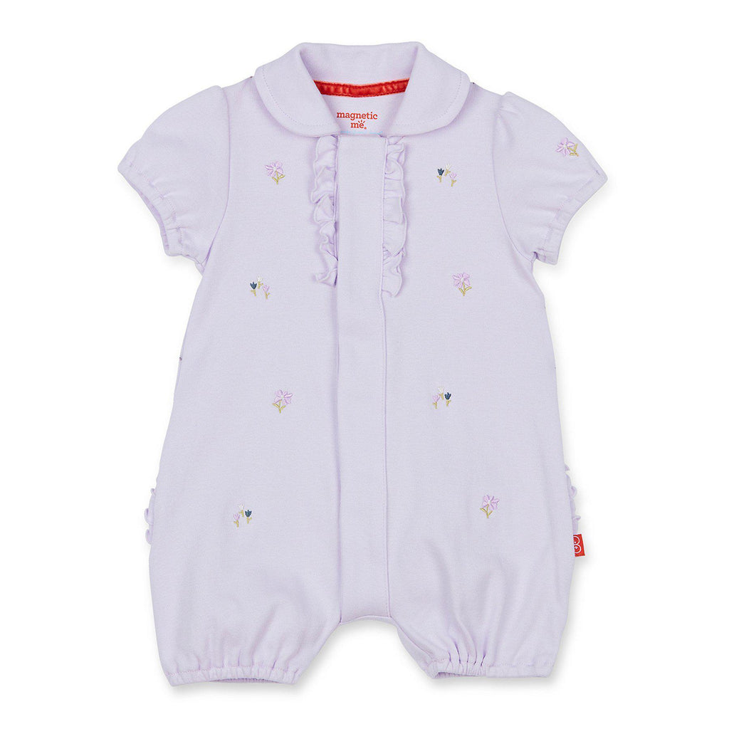 Magnetic Polo Romper - Fieldston
