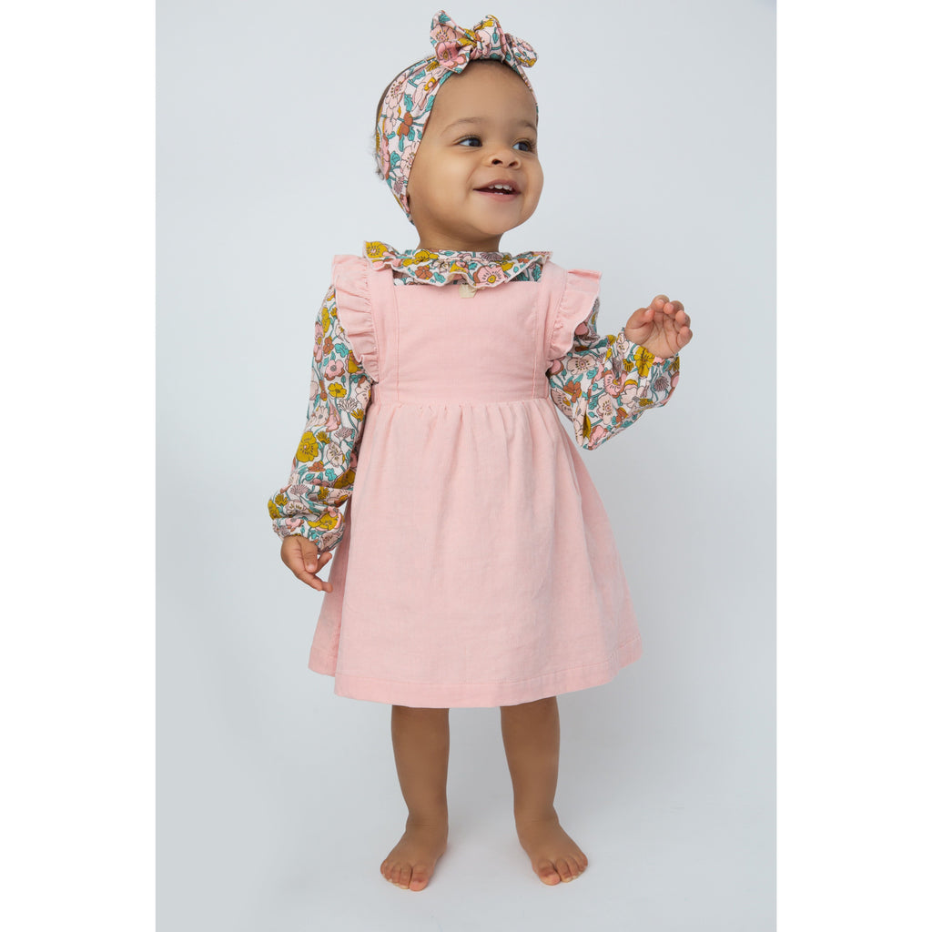 Pinafore Dress and Bloomer - Pink Corduroy