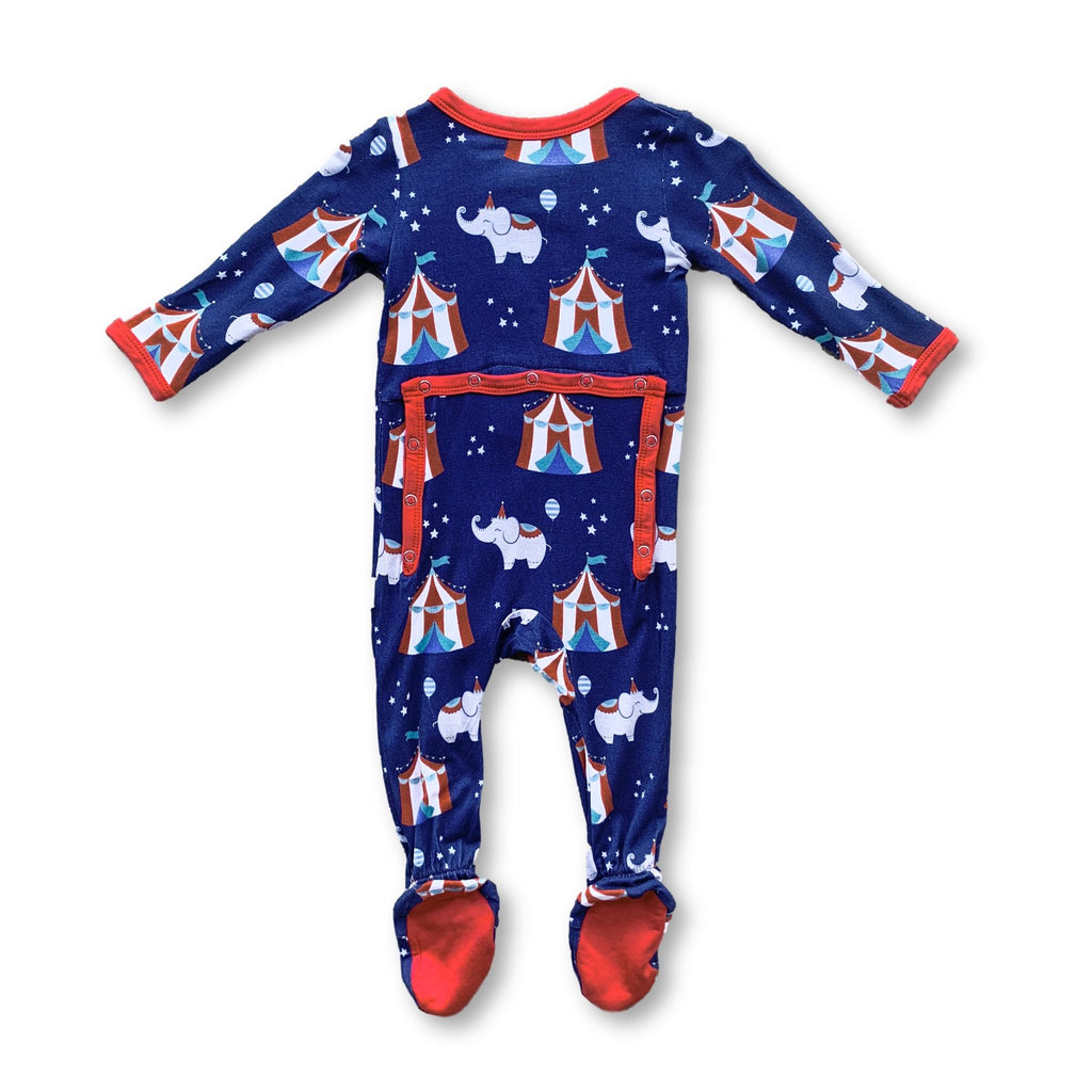Footie Pajamas - Circus Nights
