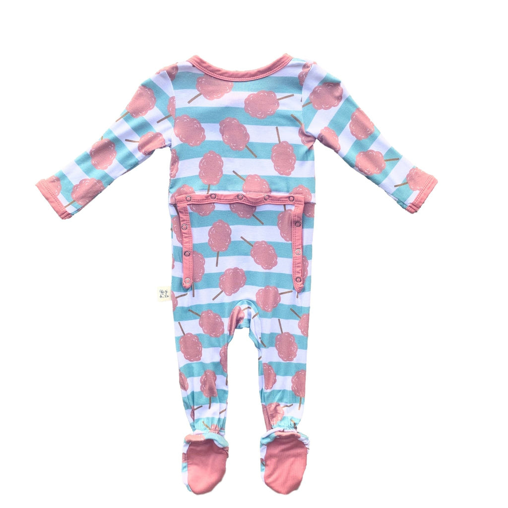 Footie Pajamas - Cotton Candy Stripe
