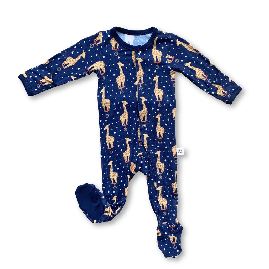 Footie Pajamas - Midnight Giraffe