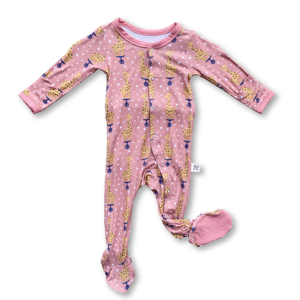 Footie Pajamas - Cotton Candy Giraffe