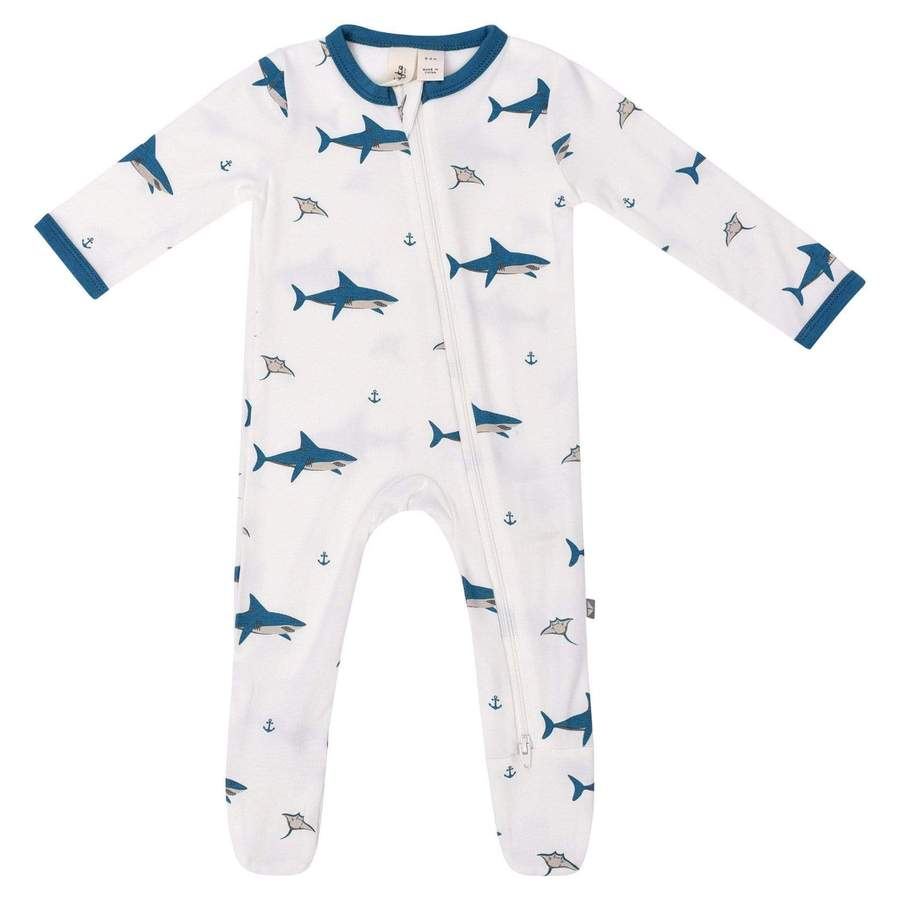 Zippered Footie PJ - Deep Sea