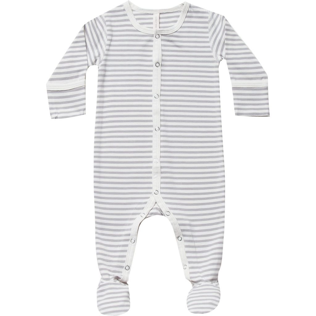Full Snap Footie PJ - Grey Stripe