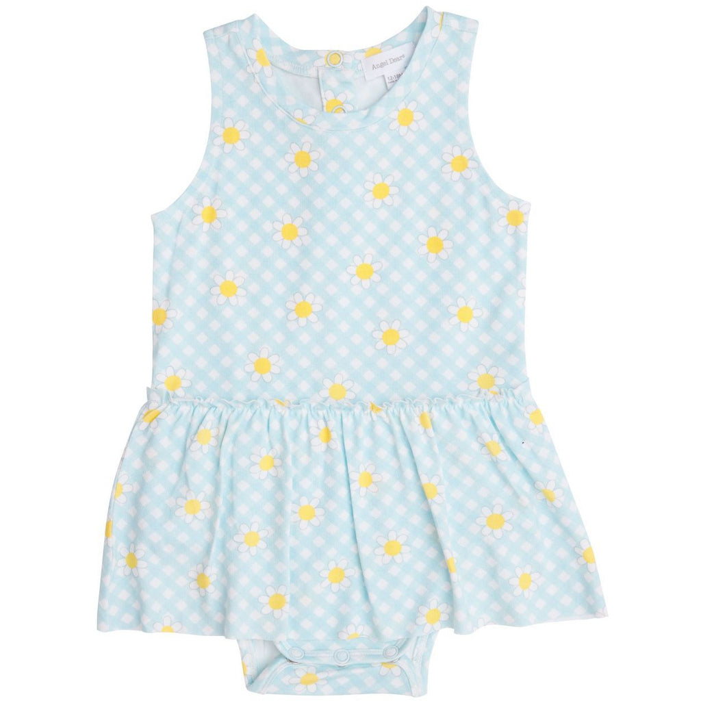 Bodysuit With Skirt - Gingham Daisy