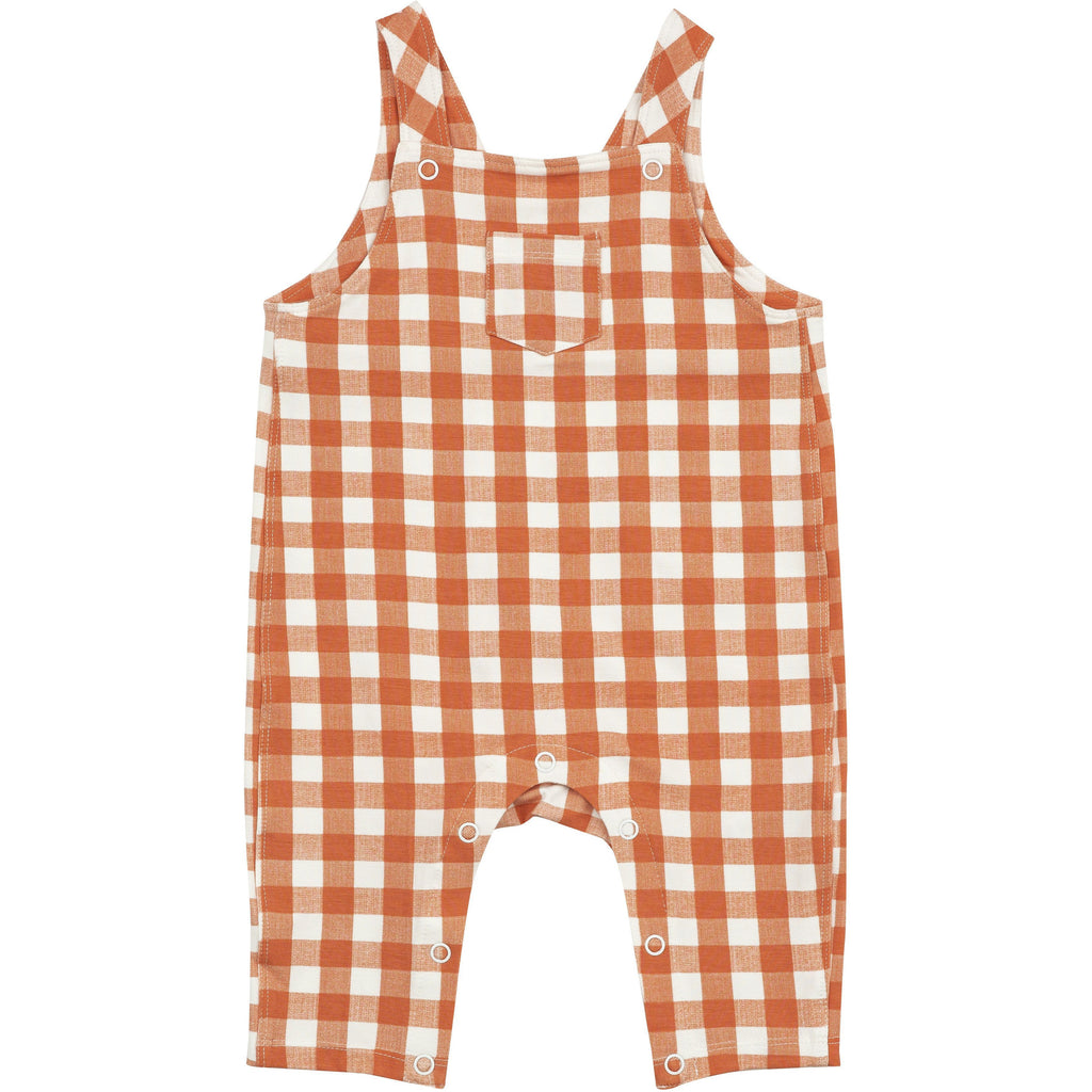 Coveralls - Gingham Pumpkin
