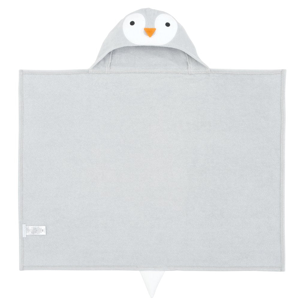 Hooded Bath Wrap - Gray Penguin