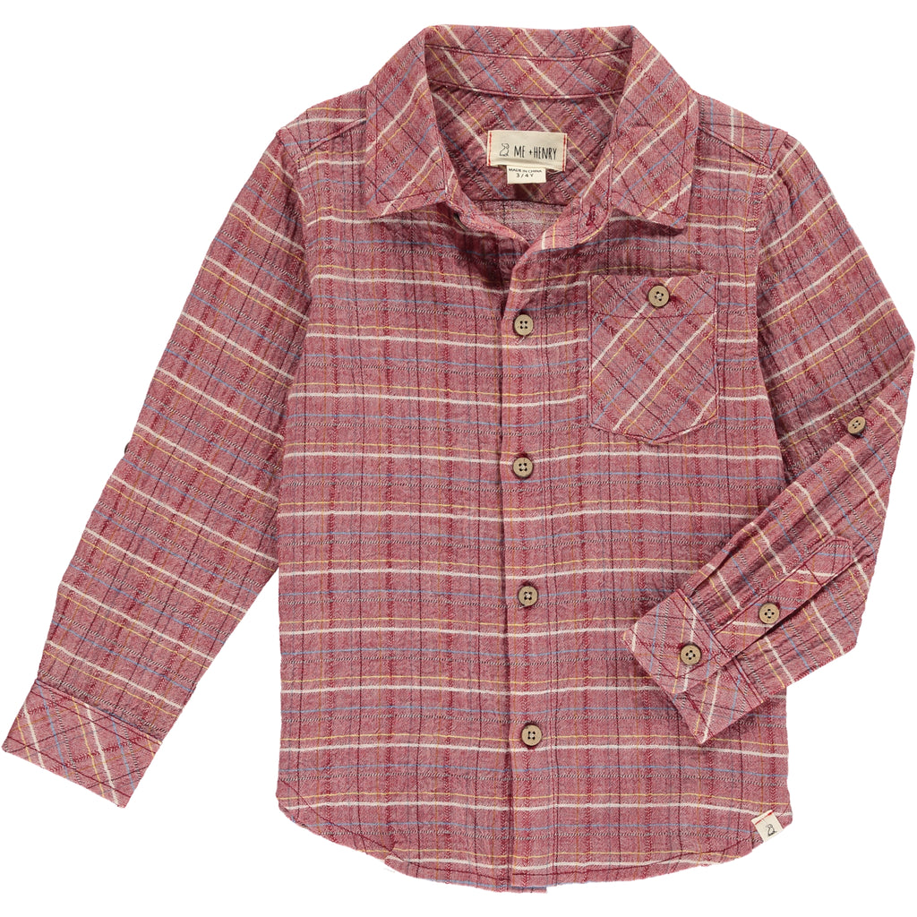 Boy's Shirt - Red Check
