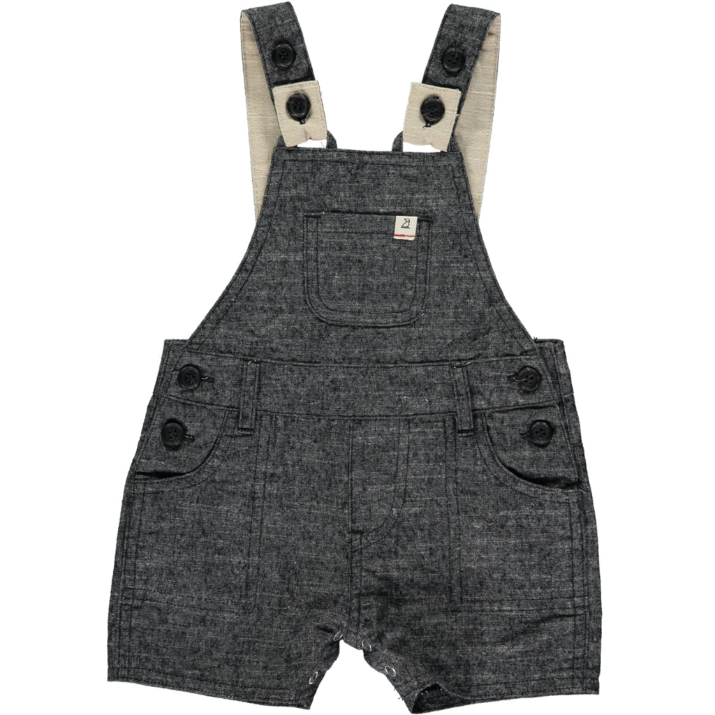 Woven Dungarees - Black
