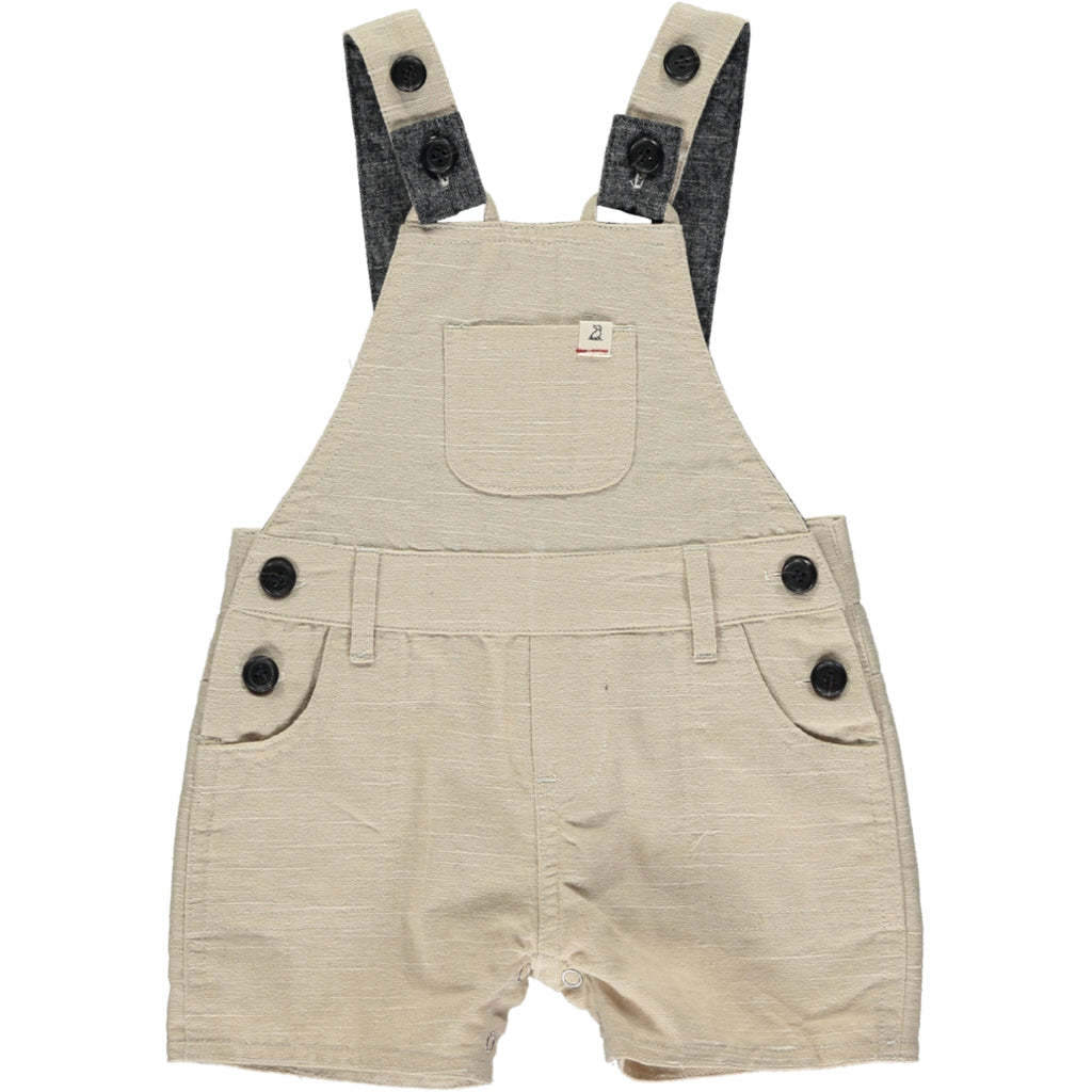 Woven Dungarees - Stone