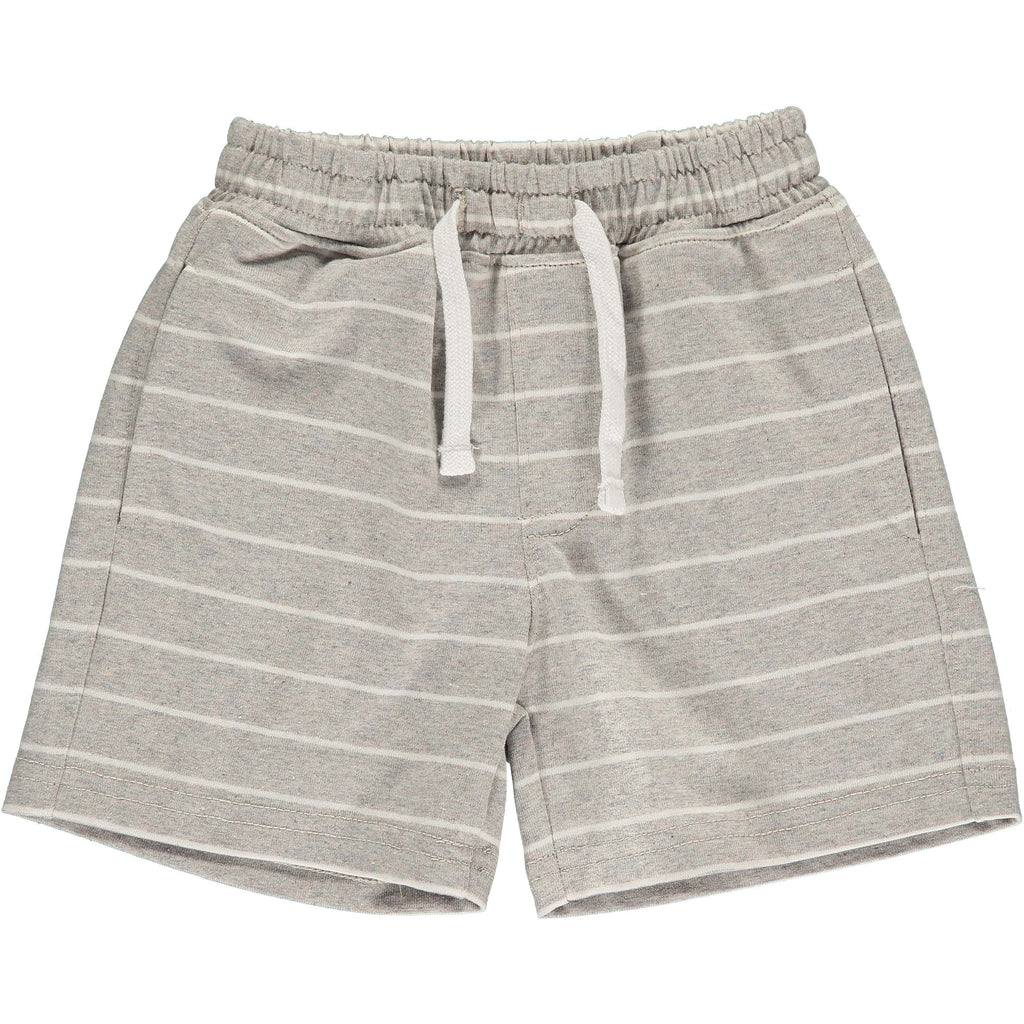 Shorts - Grey/White Stripe Jersey