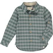 Shirt - Green/Grey Plaid