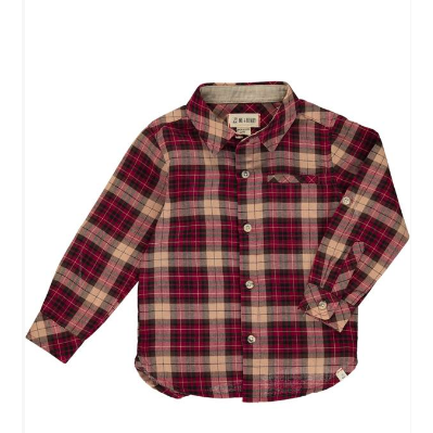 Shirt - Wine/Black Plaid