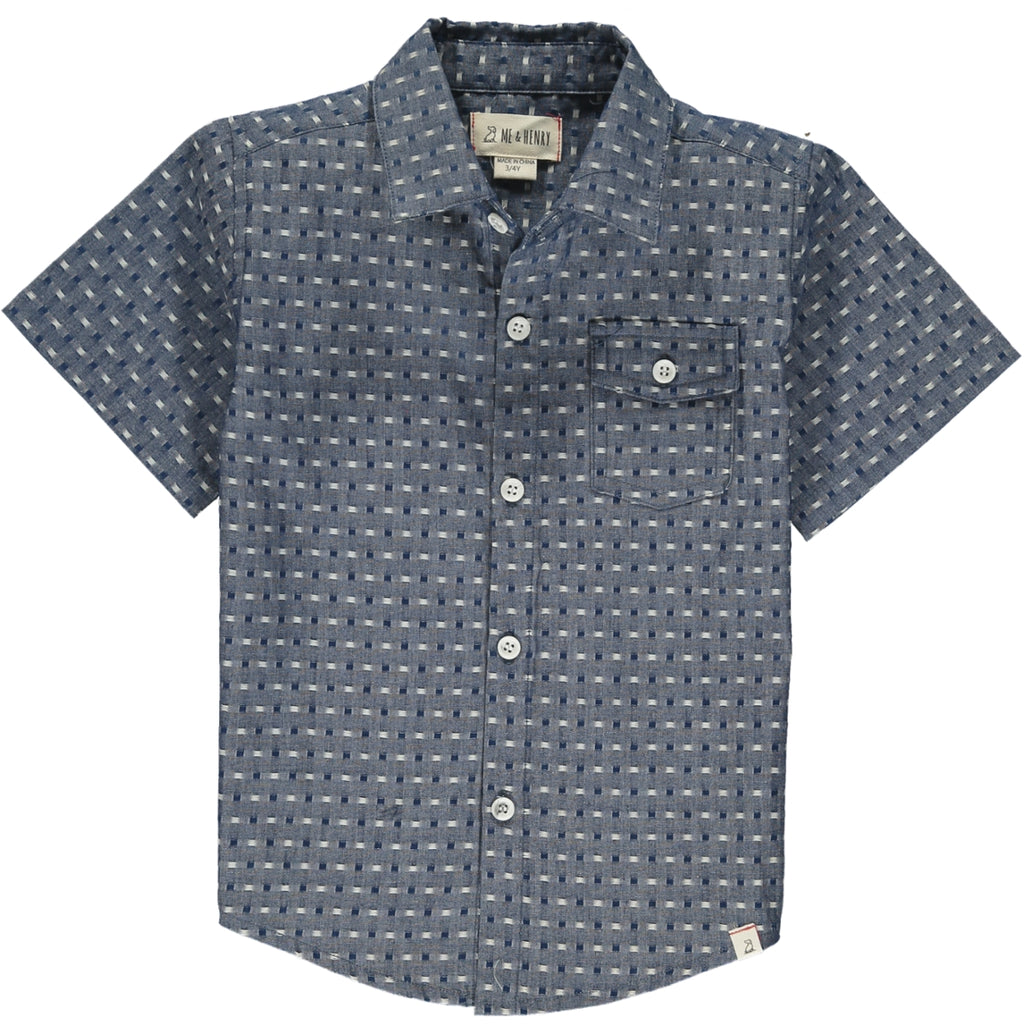 Newport Short Sleeved Shirt - Pulled Chambrey