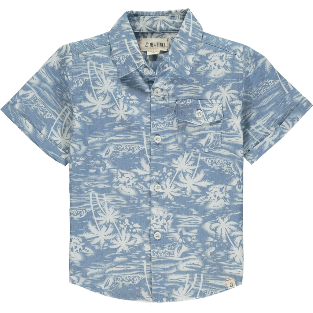Newport Short Sleeved Shirt - Chambrey Surfer
