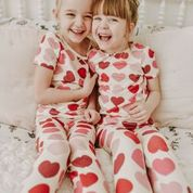 Pajama Set - Scalloped Hearts