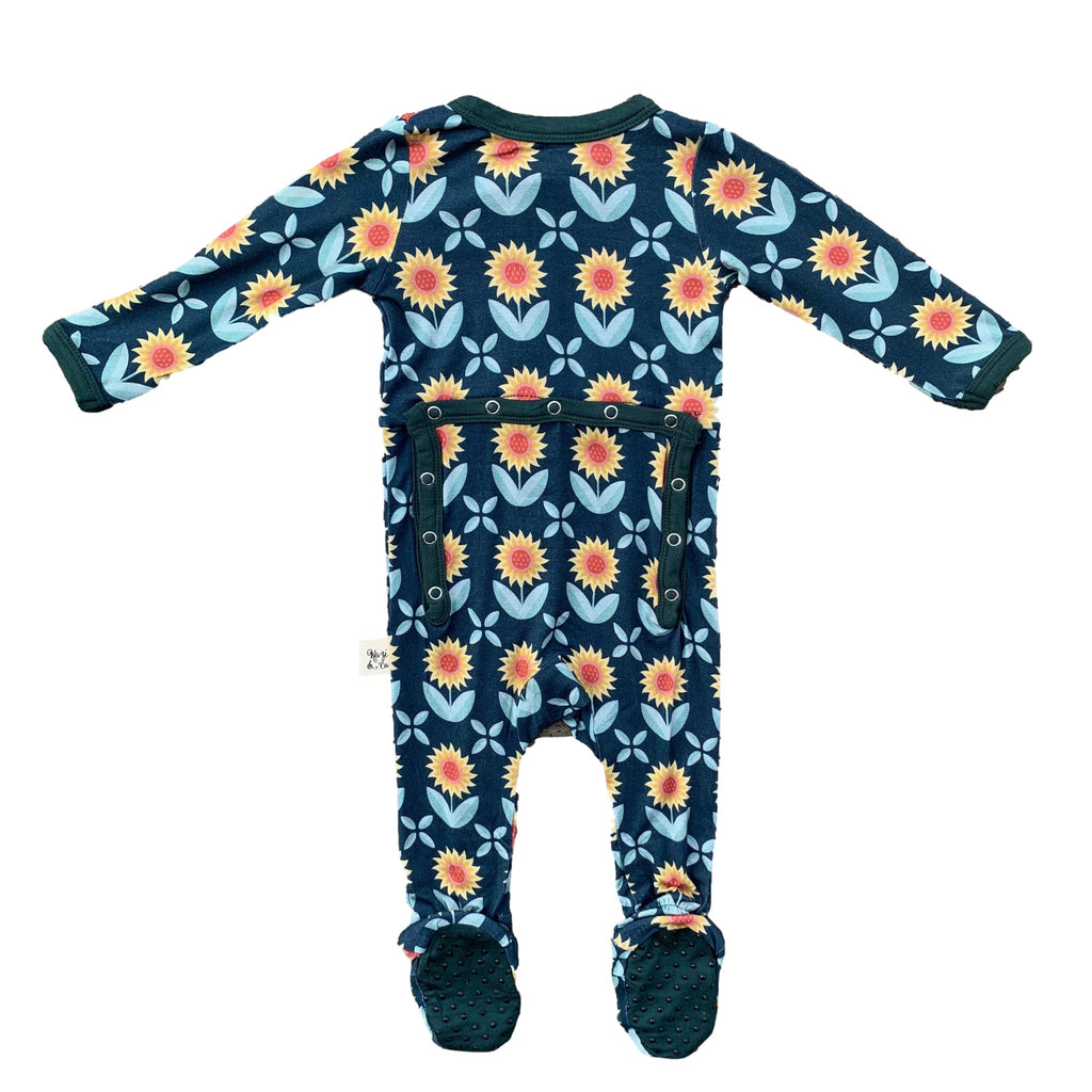 Footie Pajamas - Sunflowers