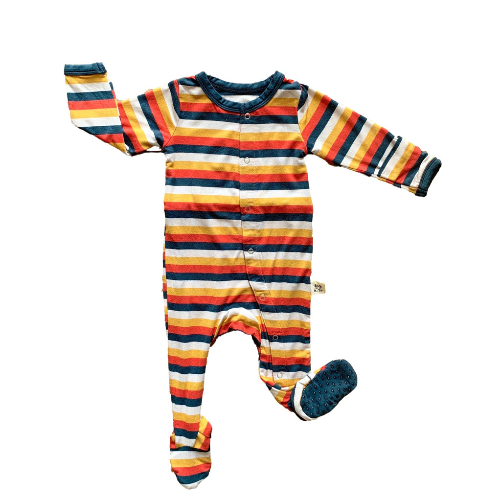 Kozi onesie pajamas with sundance stipes