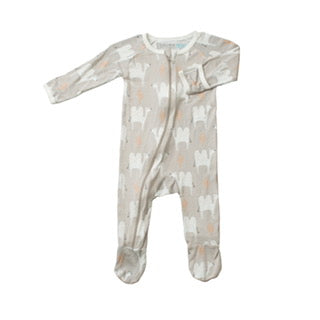 Footie Pajamas - Tan Camel