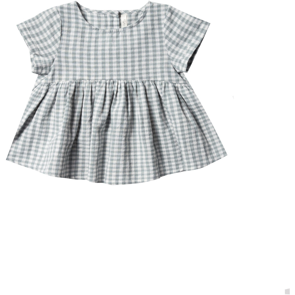 Jane Blouse - Sea Gingham
