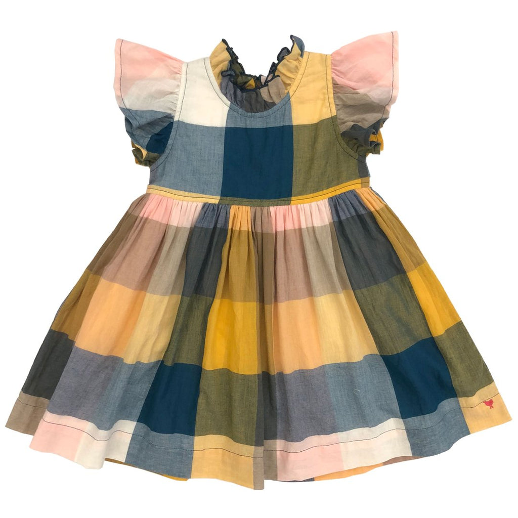 Jennifer Dress - Multi Colored Gingham