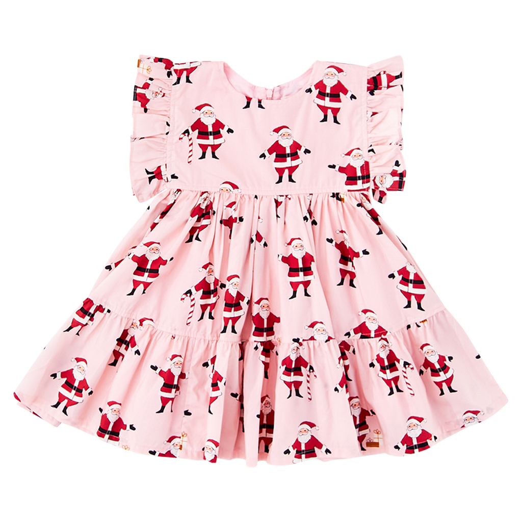 Kit Dress - Strawberry Cream Santas