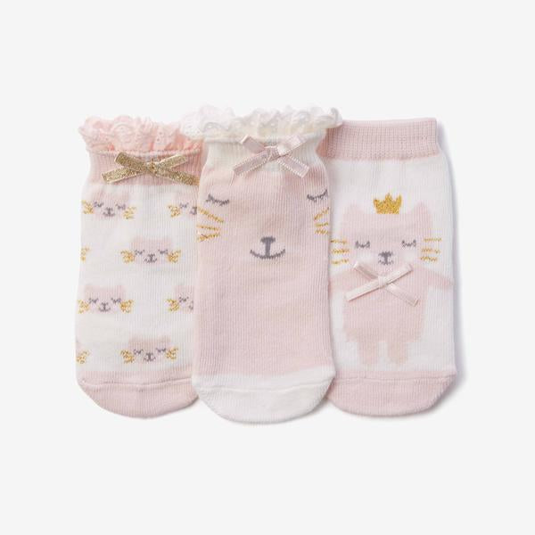 Socks (3/pk) - Kitty