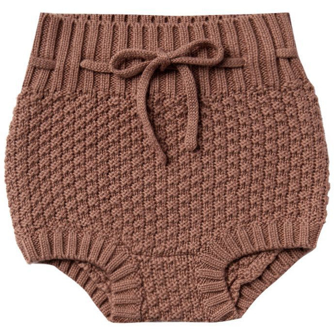 Knit Tie Bloomers - Clay