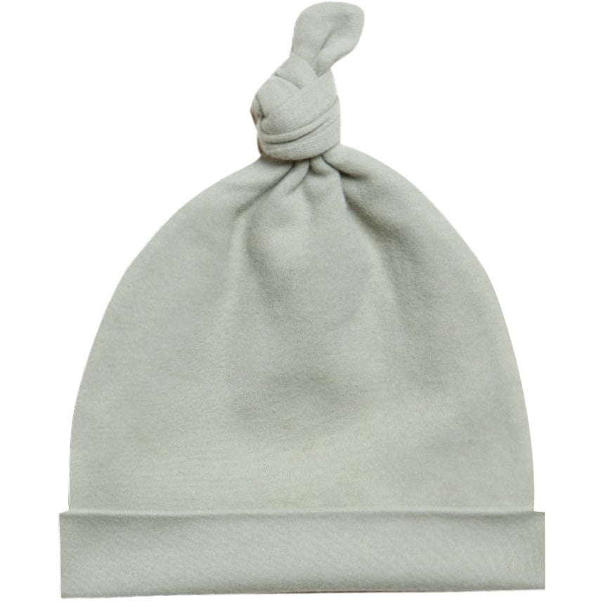 Knotted Baby Hat - Sage