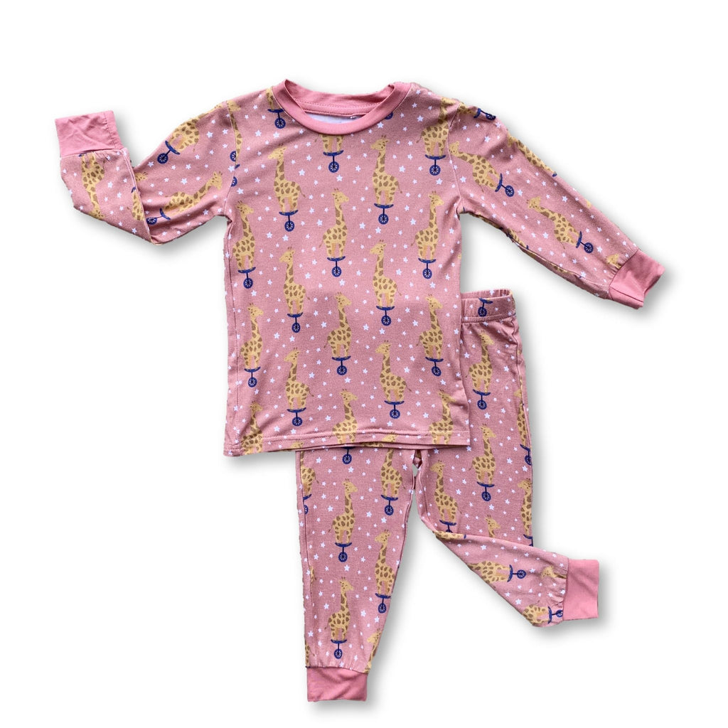 Long Sleeve PJ Set - Cotton Candy Giraffe