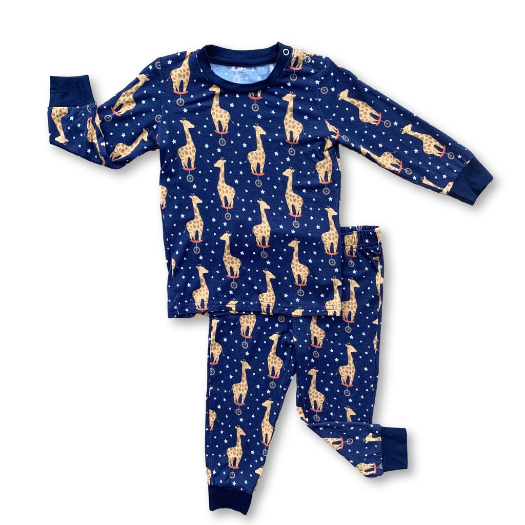 Long Sleeve PJ Set - Midnight Giraffe