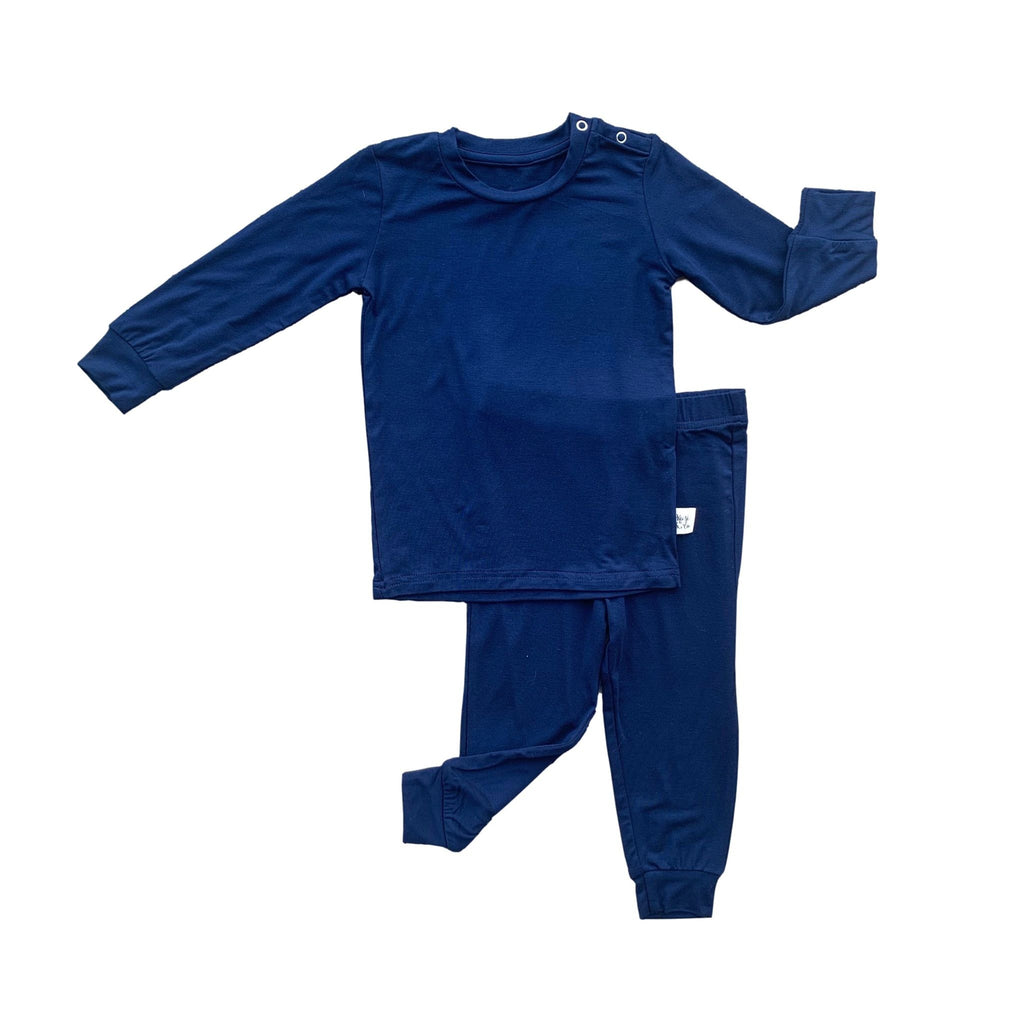 Long Sleeve PJ Set - Midnight Solid