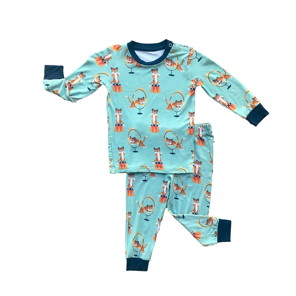 Long Sleeve PJ Set - Tiger Act
